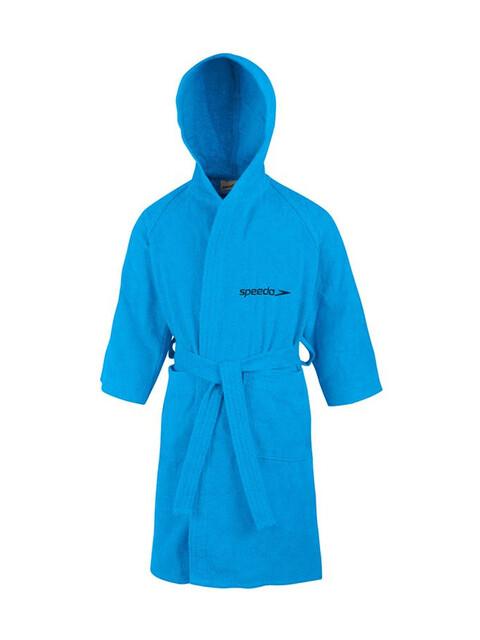 speedo Microterry Bathrobe Kinder japan blue